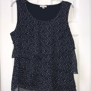 Dress Barn top with sheer layers size 2X